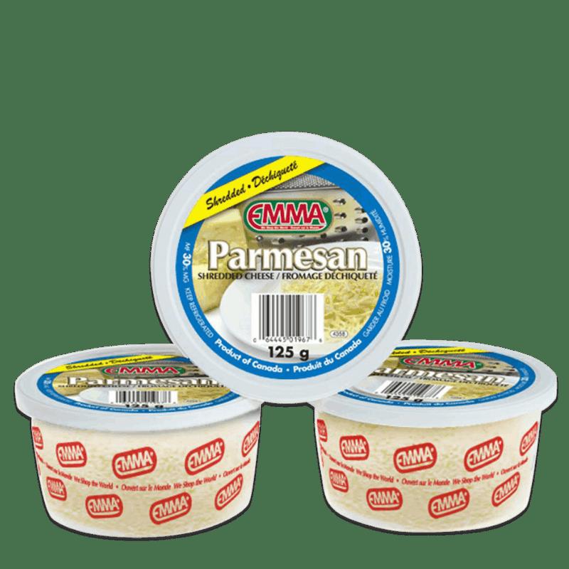 EMMA® Shredded Parmesan Cheese – Tubs