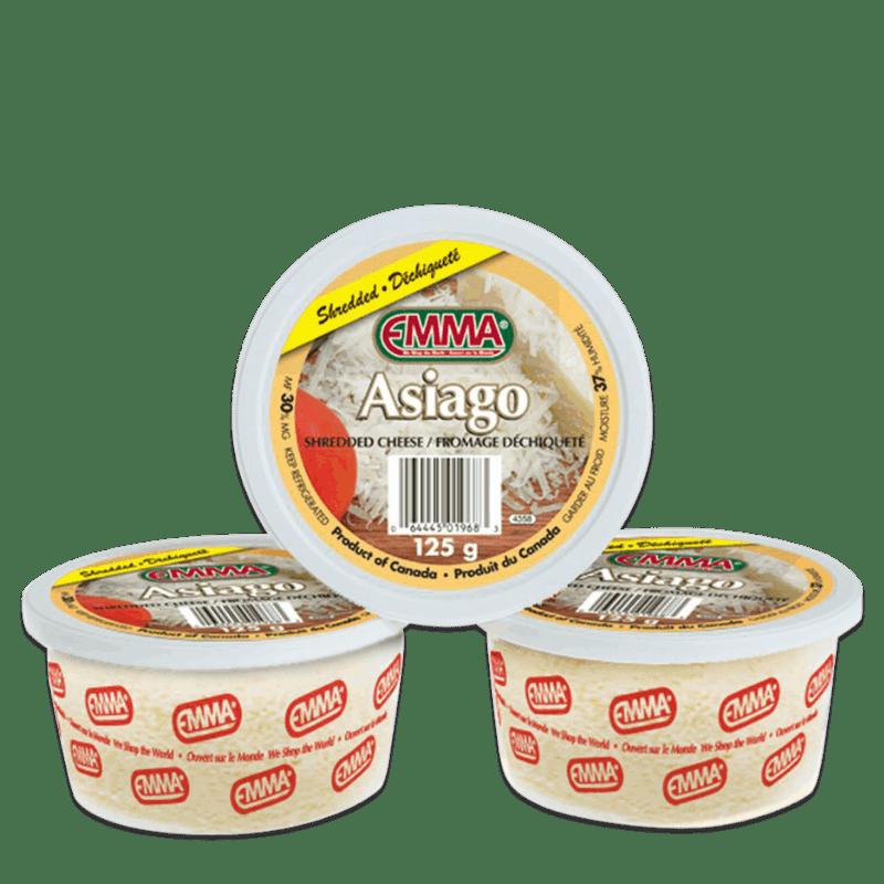 EMMA® Shredded Asiago Cheese – Tubs