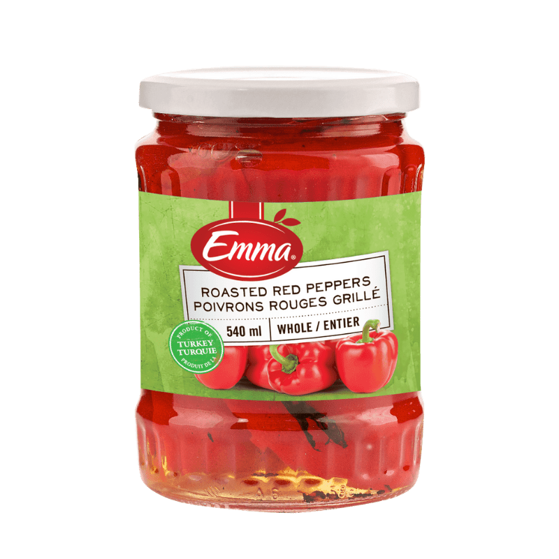 EMMA® Roasted Red Peppers – Glass Jar