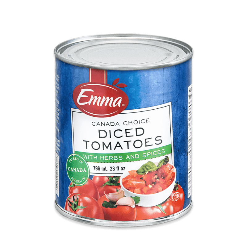 EMMA® Diced Tomatoes Herb & Spice – Domestic