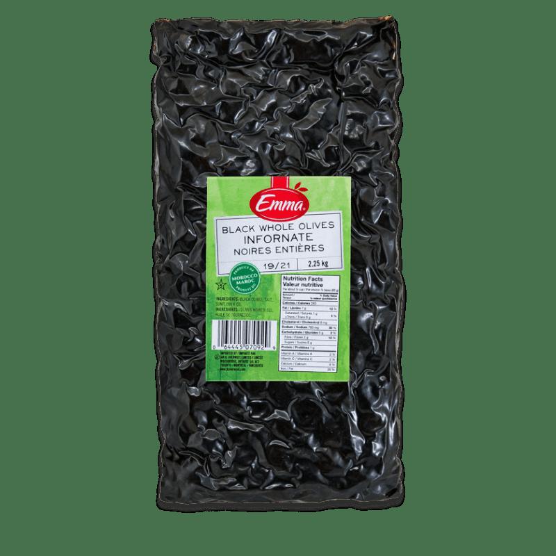 EMMA® Dried Whole Black Infornate Olives