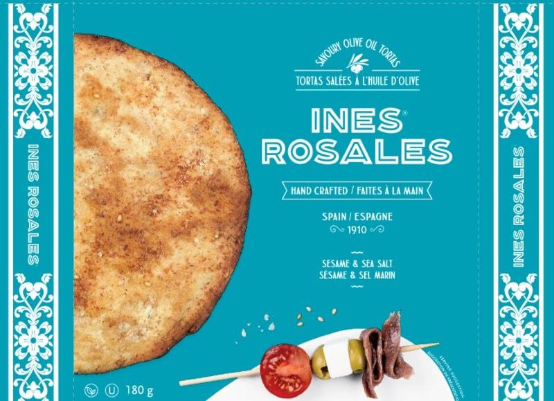 Ines Rosales Sesame & Sea Salt Savoury Olive Oil Biscuits