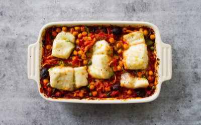 Mediterranean Roasted Fish Stew with Chickpeas